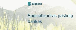 bigbank-specializuotas paskolų bankas